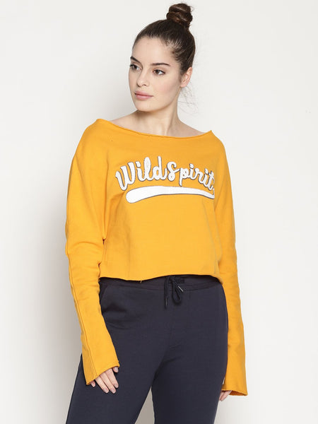 WOMENS ORGANIC COTTON CROP SWEATSHIRT -RAW CROP