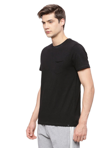 MENS ORGANIC COTTON ROUND NECK CASUAL T SHIRT - CREW-NECK TEE - mysoulspace.in