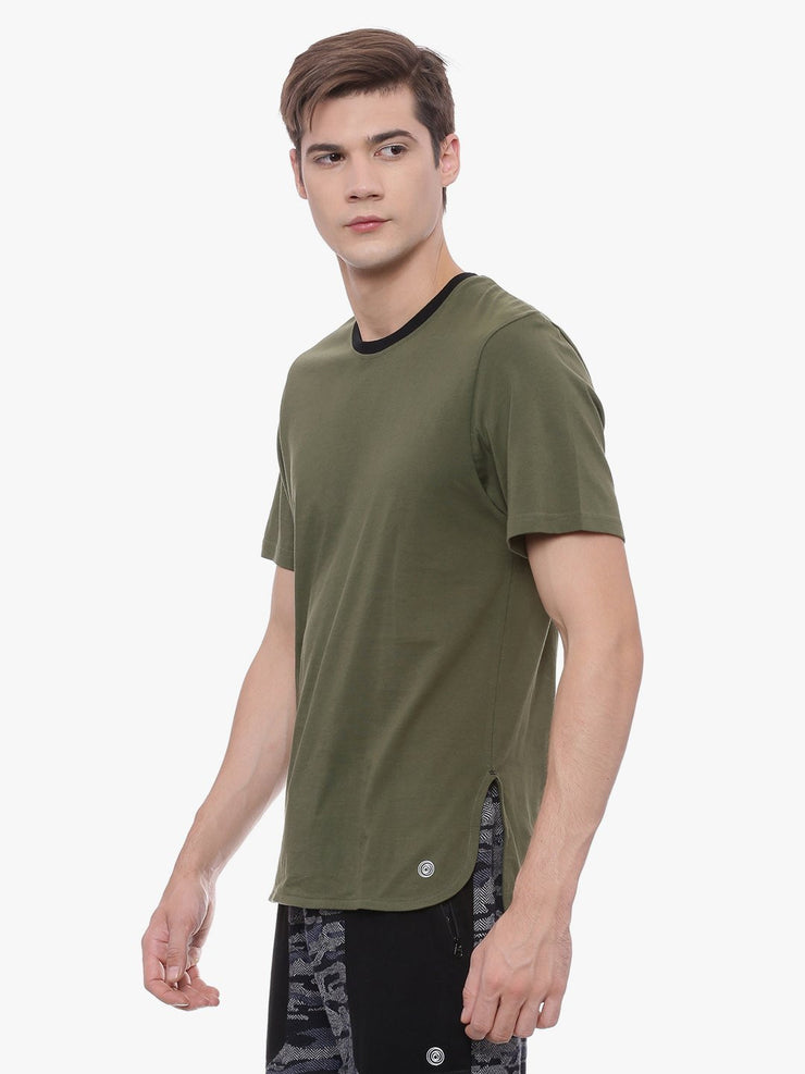 MENS ORGANIC COTTON COLOR BLOCKED TEE- VALOUR TEE - mysoulspace.in
