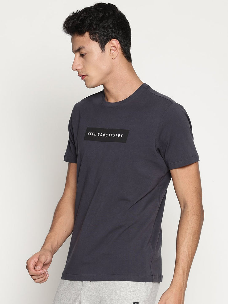 Men's Organic Cotton  Printed Round Neck Tee - Delta Tee - mysoulspace.in