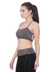 Womens Organic Cotton  Sports Bra- Lotus Bra - mysoulspace.in