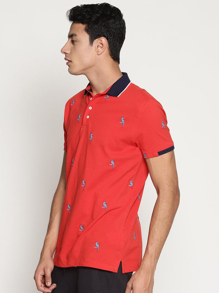 Men's Organic Cotton Embroidered Polo Tee - Rise Tee - mysoulspace.in