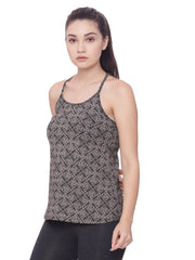 Womens Organic Cotton Tank Top- Lotus Tank - mysoulspace.in