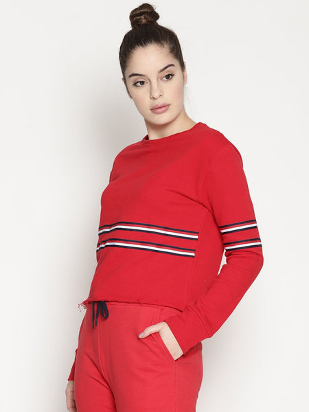 WOMENS ORGANIC COTTON CROP SWEATSHIRT -CROP CODE