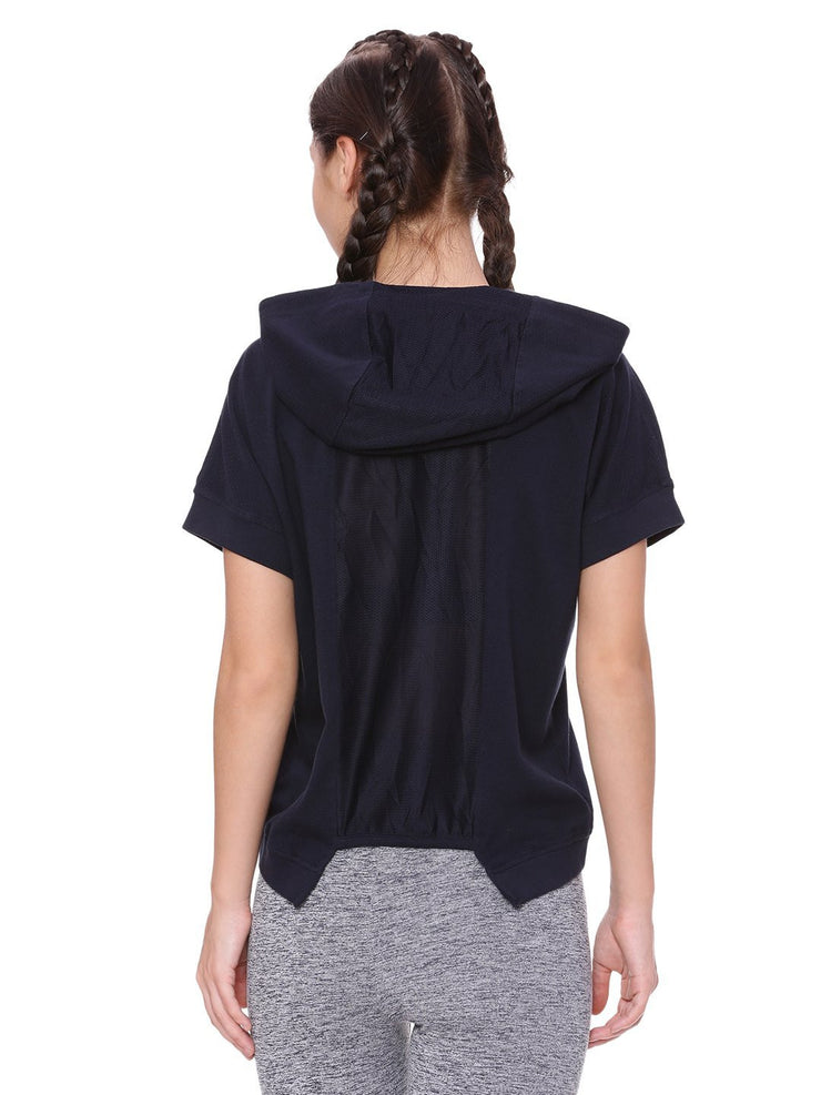 WOMENS ORGANIC COTTON CROP HOODIE - SPEED UP HOODIE - mysoulspace.in