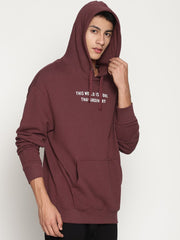 Men's Organic Cotton Solid Hooded Sweatshirt - Zoned Pullover Hoodie - mysoulspace.in