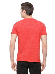 Mens Organic cotton stretch  printed round neck  Tee - Propel Tee - mysoulspace.in