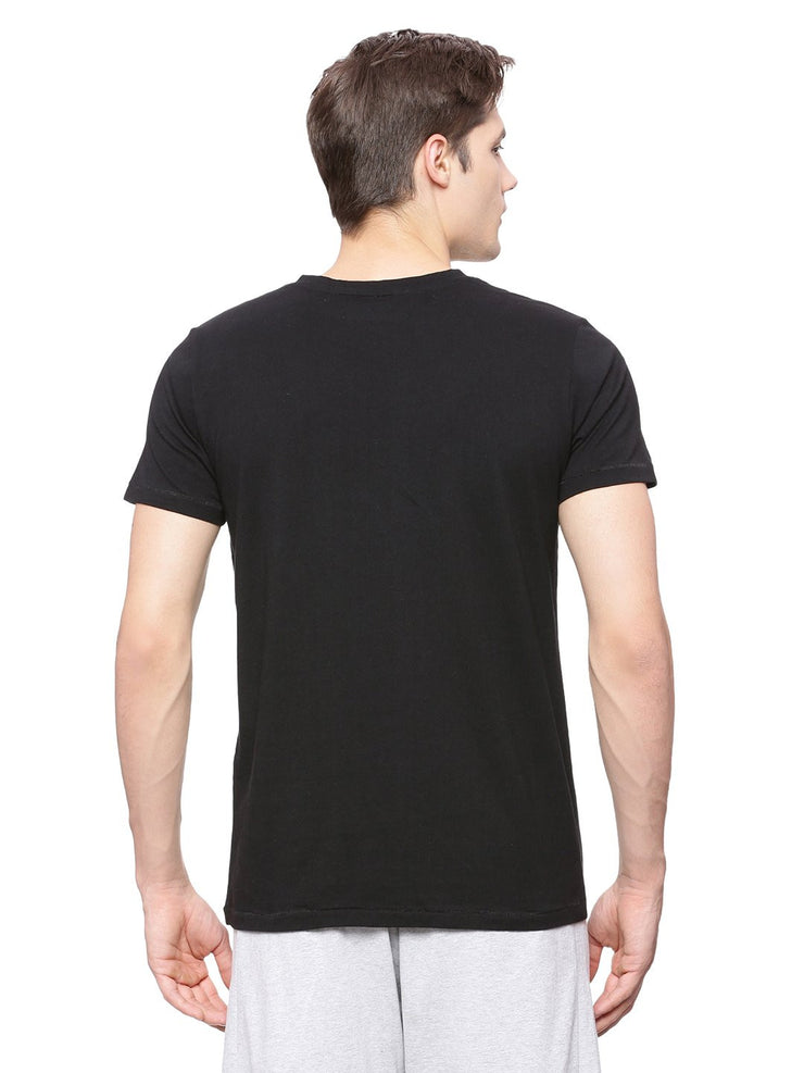 MENS ORGANIC COTTON V NECK CASUAL T SHIRT - V-NECK TEE - mysoulspace.in