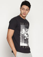 Men's Organic Cotton  Printed Round Neck Tee - Dawn Tee - mysoulspace.in