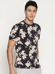 Men's Organic Cotton  Printed Round Neck Tee - Mineral Tee - mysoulspace.in