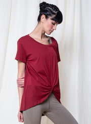 Surili-LONG KNOTTED TEE