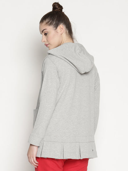 WOMENS ORGANIC COTTON JACKET HOODIE -ALICE HOODIE