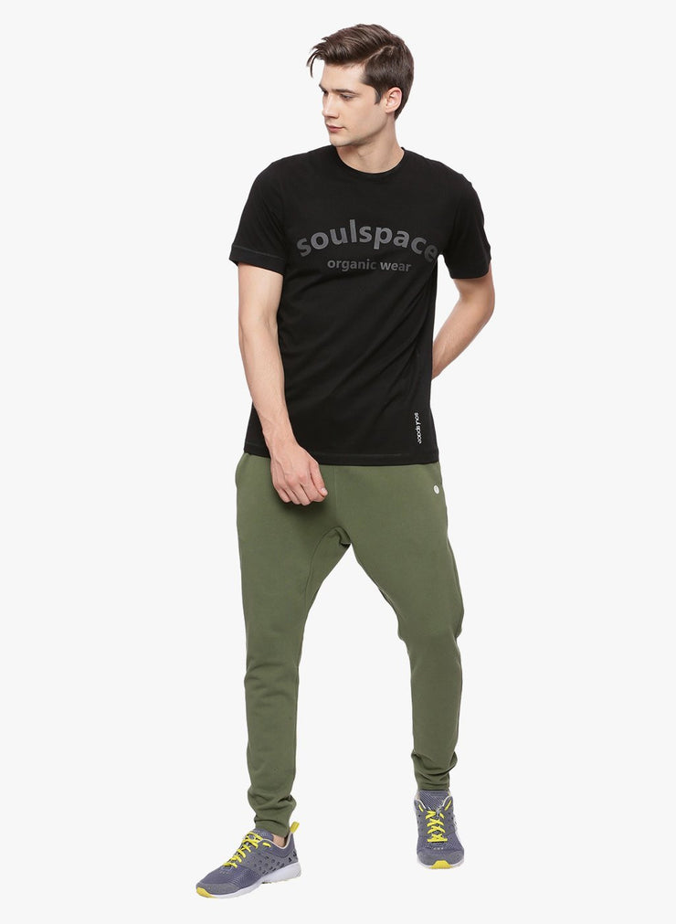 Men's Organic Cotton  Printed Round Neck Tee - Move Tee - mysoulspace.in
