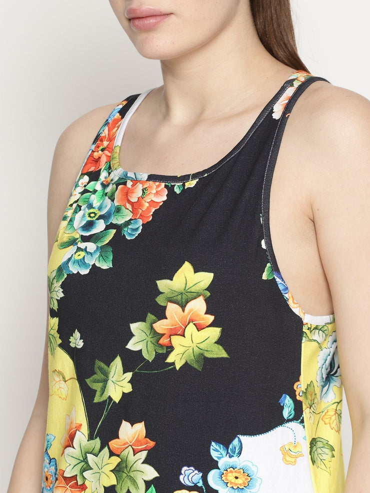 Womens Organic Cotton Tank Top - DARK FOREST - mysoulspace.in
