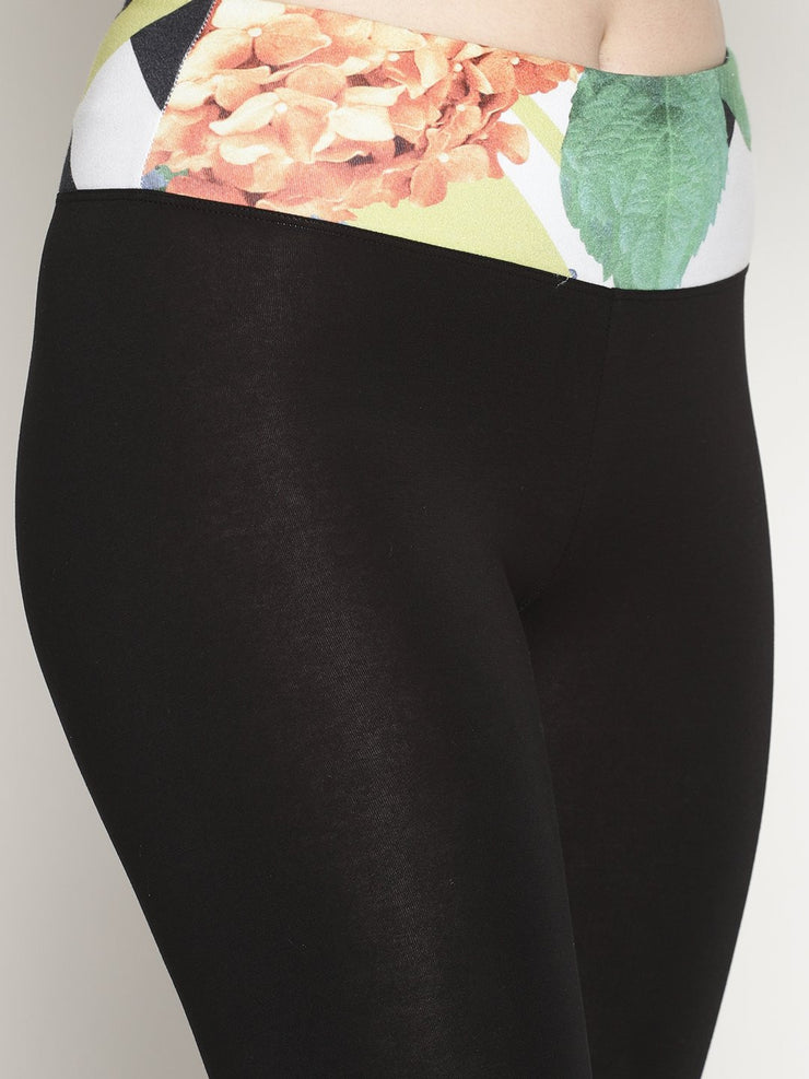 WOMENS ORGANIC COTTON TIGHTS- FLORA - mysoulspace.in
