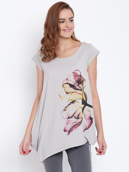 Womens Organic Cotton Modal Blended Top-Dove Top