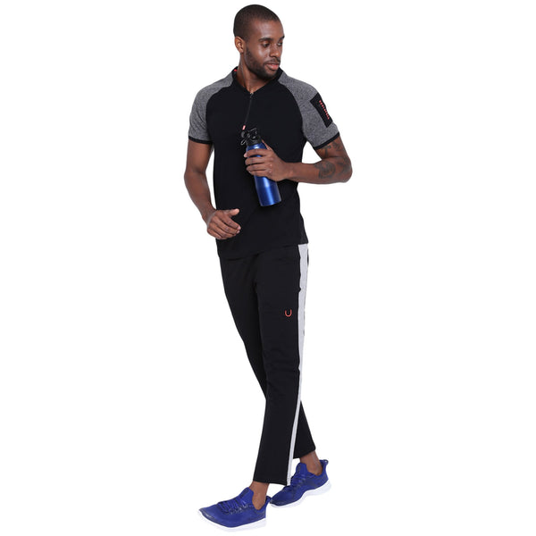 Mens Zipper Polo T shirt - Forge Polo - mysoulspace.in