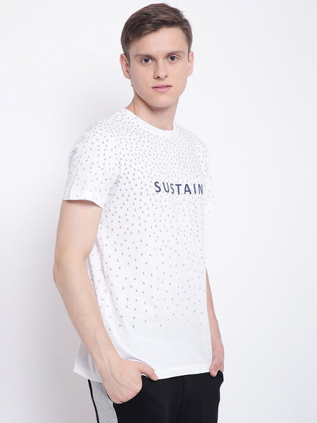 Mens Organic Cotton Round Neck Printed T-shirt-Transition Tee