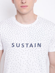 Mens Organic Cotton Round Neck Printed T-shirt-Transition Tee - mysoulspace.in
