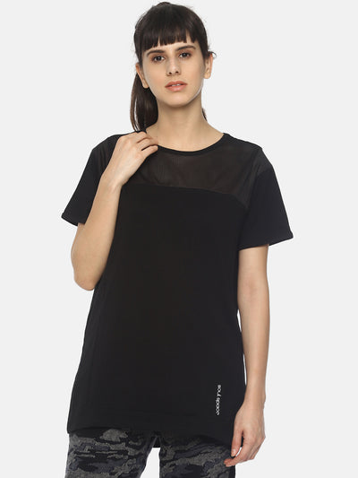 WOMENS ORGANIC COTTON AND MESH TSHIRT - CINCH TEE