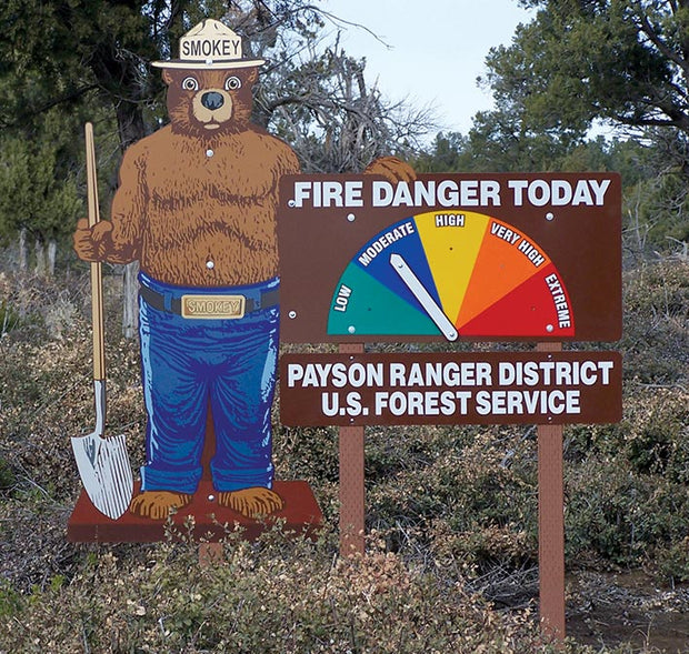 Smokey Bear Fire Danger Today 3 Piece Sign Kit