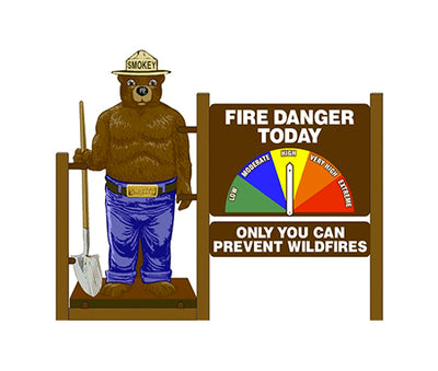 2D Smokey Bear, Two Sided 3 Piece Display Kit