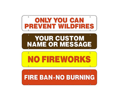 Two Sided Fire Danger Rider Sign