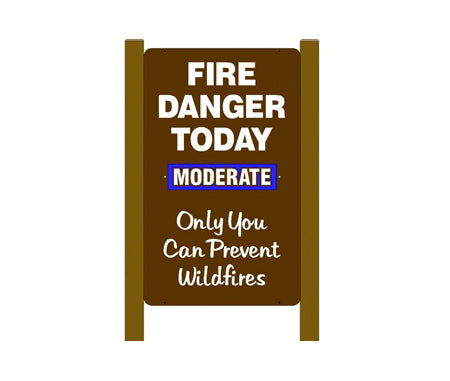 Vertical Slider Two Sided Fire Danger Sign