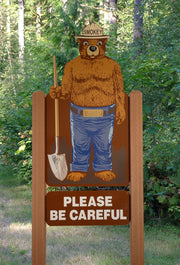 2D One sided 4ft Smokey bear display