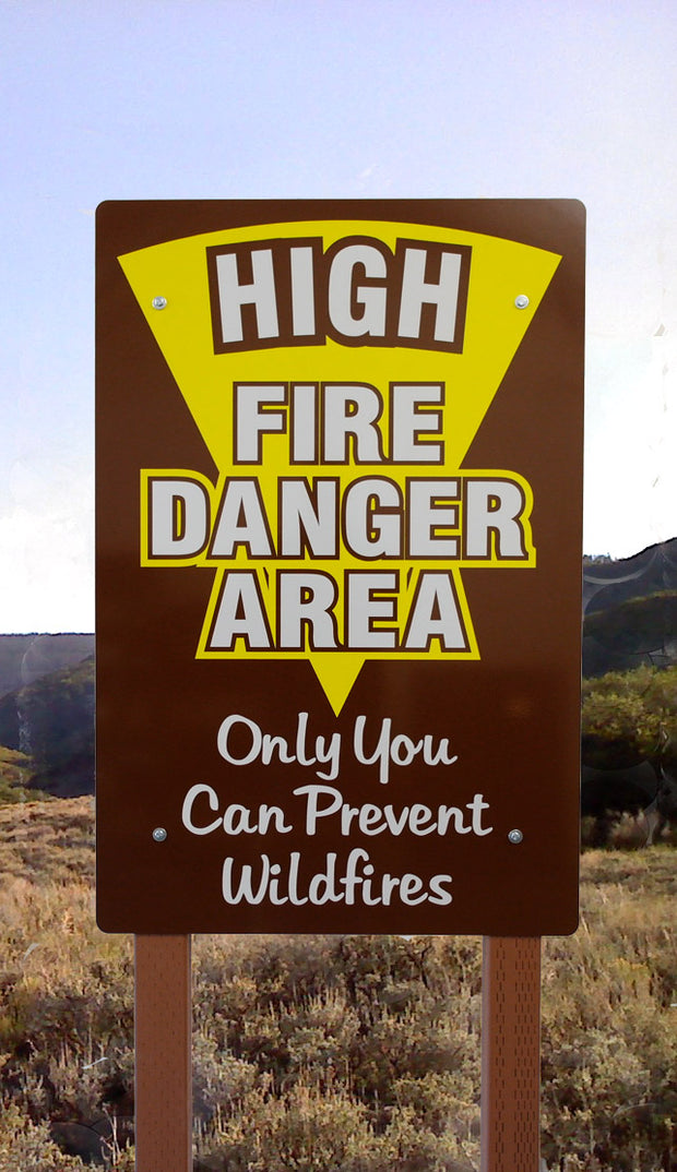 High Fire Danger Area One Sided Sign