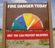 Arrow Lock Replacement for Fire Danger Signs