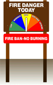 One Sided Fire Danger Sign