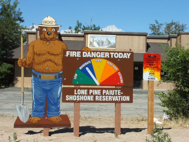 2D Smokey Bear, One Sided 3 Piece Display Kit