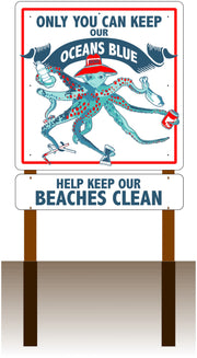 "Ocho Octopus 48""x48"" Message Sign (add rider and post options)"