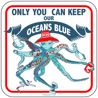 "Ocho Octopus 12"" by 12"" Light Weight Wall Mount Sign"