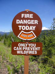 Round Fire Danger Sign