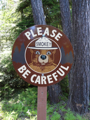 Smokey Zone Smokey Bear Message Sign