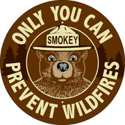 Smokey Bear Message Sign (add rider and post options)