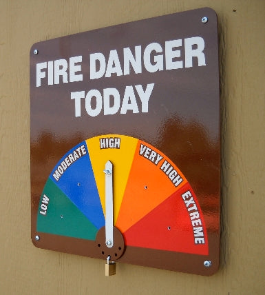 Wall Mount Fire Danger Sign