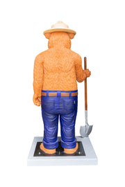 3D 6ft Smokey Bear Premium Statue With Base and Lock