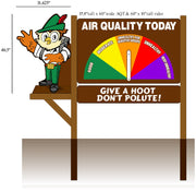 2D Woodsy Owl, One Sided 3 Piece  Air Quality Display Kit- Large