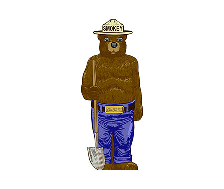 2D Smokey Bear Aluminum Cover