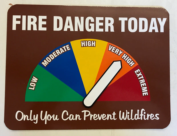 Magnetic Fire Danger Signs