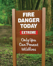 Fire Danger Today Fire Prevention Sign with Vertical Slider