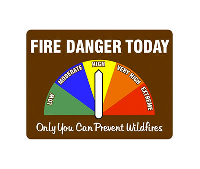 Magnetic Vehicle Fire Danger Signs