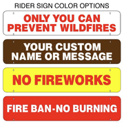 Two Sided Fire Danger Sign