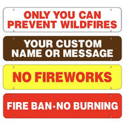 One Sided Rider Signs - Fire Prevention Messages