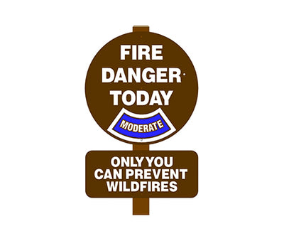 Round Fire Danger Sign (add rider and post)