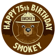 Smokey Bear Round Fire Danger Message Sign