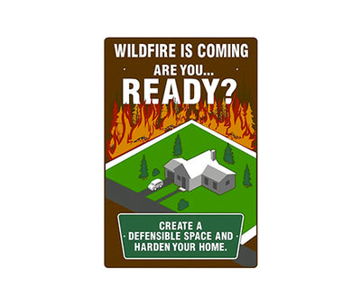 Defensible Space Fire Danger Sign